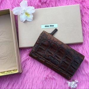 Miu Miu crocodile skin Wallet Vintage
